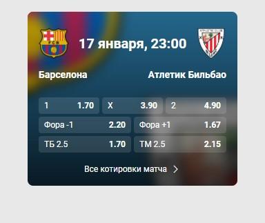 «Барселона» − «Атлетик» фонбет
